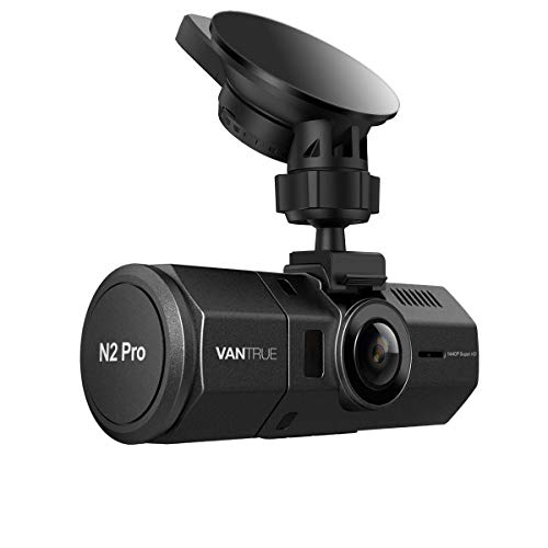"""VANTRUE N2 Pro Dual Dash Cam Dual 1920x1080P Front and Rear Dash Cam (2.5K Single Front Recording) 1.5"""" 310° Car Dashboard Camera w/Infrared Night Vision, Sony Sensor, Parking Mode, Motion Detection"""