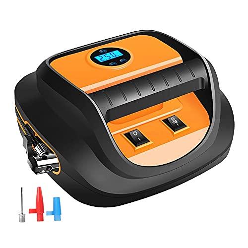 Compresor de aire portátil del inflador de neumáticos, pantalla inteligente de luz LED, para el hogar y el automóvil, la bomba de aire para el automóvil, la bicicleta, la motocicleta, el baloncesto
