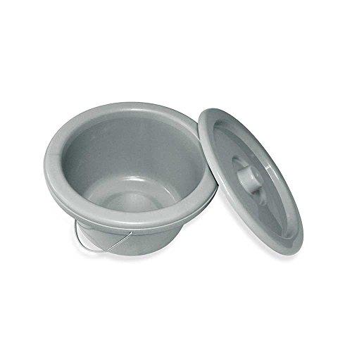 1x Toiletteneimer, Nachtstuhl Toilettenstuhl Hygiene Eimer Deckel Bügel, 7 Liter