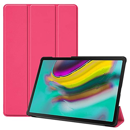RZL PAD & TAB cases For Samsung Galaxy Tab S5E S5E SM-T720 SM-T725, Smart Slim Leather Magnetic Fold Stand Cover For Galaxy Tab 2019 10.5' (Color : SM S5E RRed)