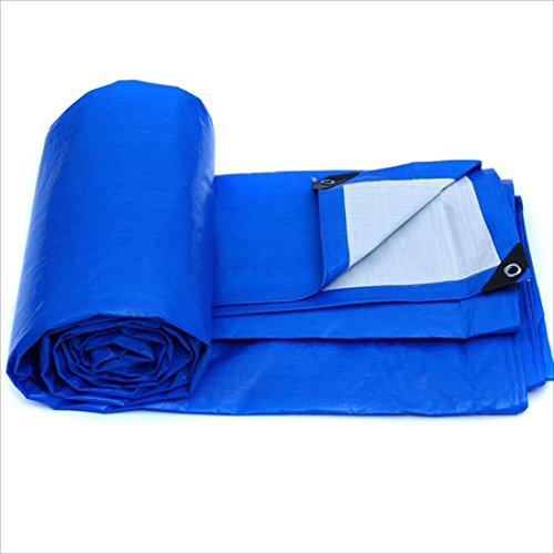 QX pengbu IAIZI Le bâche imperméable de Camion de Tricycle de Tissu en Plastique de piège en Plastique de bâche de bâche imperméable de PE, 155g / m² (Taille : 6m × 4m)