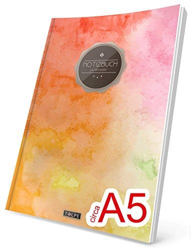 """TULPE Punktraster Notizbuch: Ca. A5 """"C072 Bunte Wände"""" (Vintage Softcover, Register, Punktkariertes Papier - Bullet Journal, Notizheft, Skizzenbuch, Tagebuch, Gepunktete Seiten, Dot Grid Notebook)"""