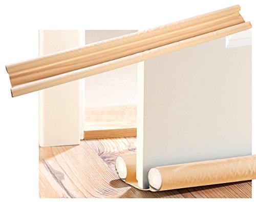infactory Türbodendichtung: Zugluft-Stopper für Türen bis 60 mm Dicke, Buche (Durchzugstopper)
