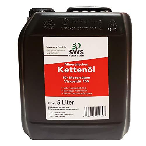 SUPER-OIL - Aceite para cadenas de motosierras con juego de ajedrez, bidón de 5 litros