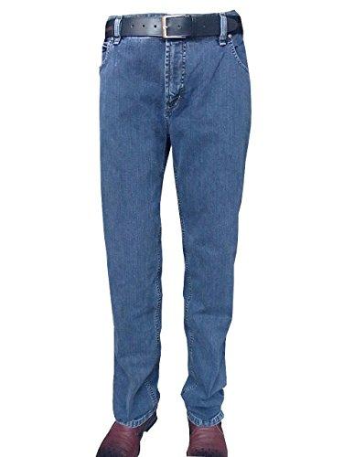 Jeans-Hose Herren Unterbauch blau Pionier Übergröße, deutsche Größe:27