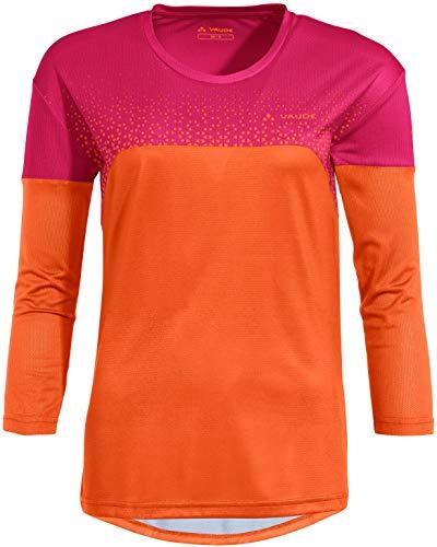 VAUDE Moab V Langarm T-Shirt Damen orange/pink Größe EU 42   L 2021 Radtrikot langärmlig