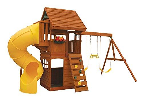 KidKraft Grandview Deluxe Cedar Wood Swing Set / Playset F24730
