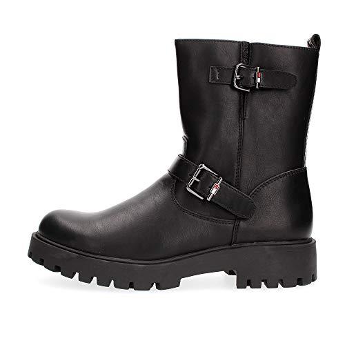 Tommy Hilfiger Kinder Schuhe Stiefel - Biker Boot schwarz, Farbe:Schwarz, Größe:EUR 31