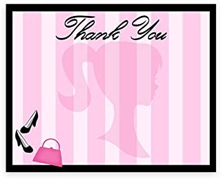 POP parties Glamour Girl Party Thank You Cards - 10 Thank You Cards + 10 Envelopes