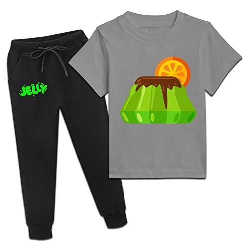 Je-lly Time - Juego de camiseta y pantalones de verano de manga corta para niños y niñas