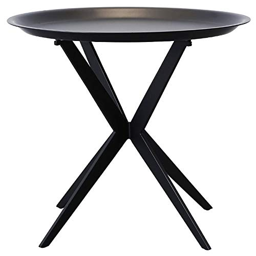 OuPai Table Wrought Iron Side Table, Coffee Table Small Table Sofa Side Table Bedroom Bedside Table Balcony Tea Table 18.5x18.5x16.3 inches for Living Room Bedroom