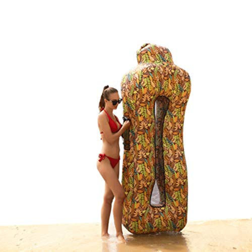 DUTUI Tragbares Aufblasbares Sofa Im Freien, Unverzichtbar Für Strandcamping, Schnell Aufblasbare Schwimmende Reihe Auf Dem Wasser, Gute Amphibienartikel,3