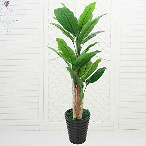 GETSO Gefälschte Vermögen Baum große Platane künstliche Pflanzen steuern Dekoration Bonsai Plastikblumen Kunstpflanzen mit Topf