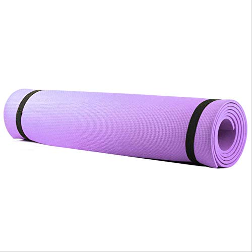 Eva yogamat yoga slip fitness pad yoga pilates oefening weerstandsbanden yoga mat gym home fitnessapparaten 1730 X610x6mm lila