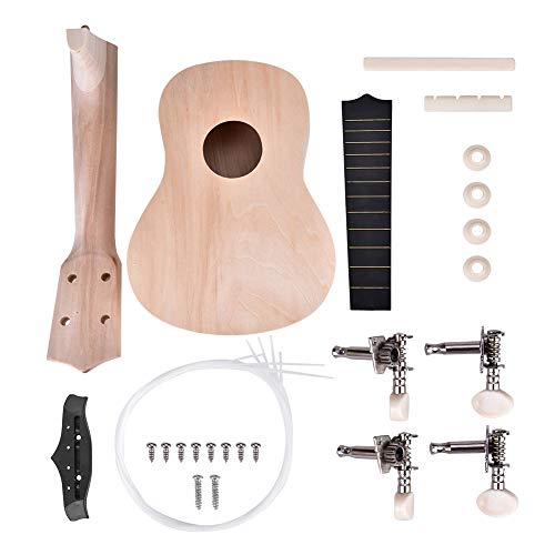 Ukulele DIY Kit, Make Your Own Pintable Ukelele de Hawaii 21 Pulgadas 4 Cuerdas