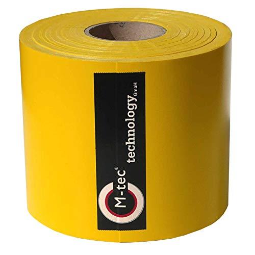 M-tec Profi-line ® PVC Zaunsichtschutzstreifen ✔ Profi-Zaunbauerqualität ✔ 65m x 19cm ✔ gelb ✔ | - Nach M-tec Technology Rezeptur hergestellt -