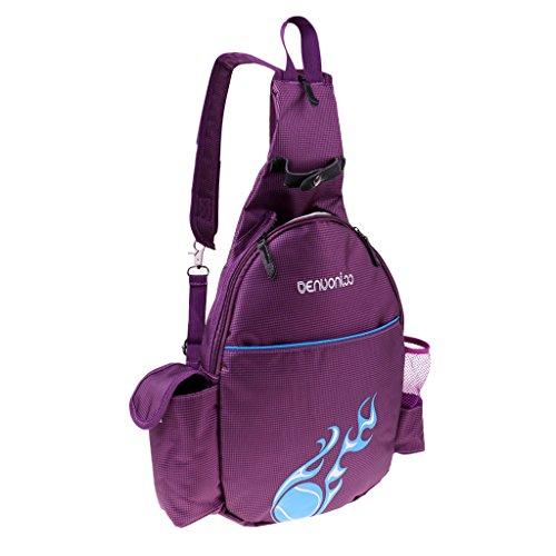 MagiDeal Wasserdicht Tennisschläger Rucksack Tasche Badminton Backpack Sporttasche Schulrucksack für Erwachsener Kinder - Lila