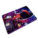 RNGIAN - Felpudo para Puerta Delantera (60 x 90 cm), diseño Moderno de DJ, Blanco, 24x35 Inch