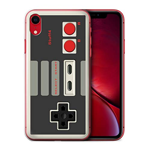 Phone Case for Apple iPhone XR Games Console Nintendo Classic Design Transparent Clear Ultra Slim Thin Hard Back Cover