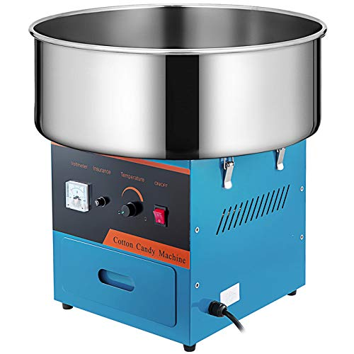 VBENLEM Commercial Cotton Candy Machine 20.5 Inch Electric Cotton Candy Machine Blue Candy Floss Maker 1030W for Various Parties