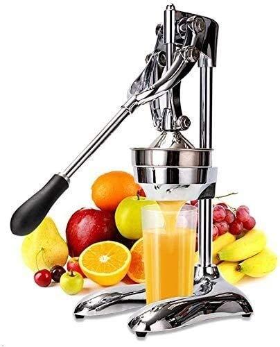 Qinmo Exprimidoras, Licuadora Cocina Hogar de acero inoxidable comercial Manual de acero inoxidable naranja granada limón Naranja Plata XPing