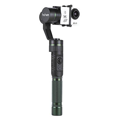 Andoer Hohem HG3 3 Assi Palmare Stabilizzazione del Giunto Cardanico Azione Fotocamera Stabilizzatore 3-Axis 360 Gradi per GoPro Hero3 / 4 per Xiaomi Yi e Simili Dimensione Telecamere Sport