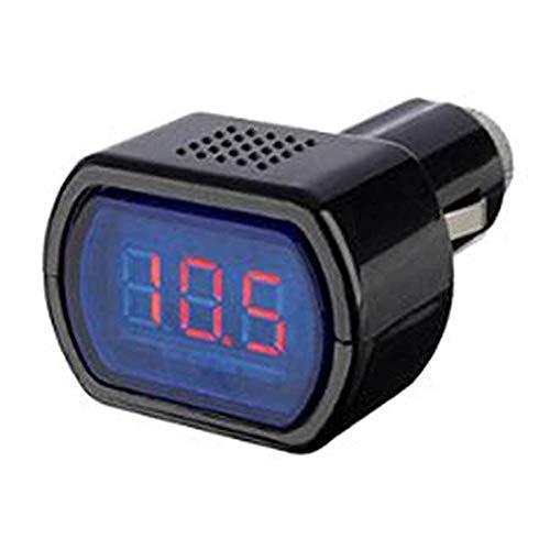 AIUIN Digitaler LED Spannungsanzeige Voltmeter Zigarettenanzünder Schwarz KFZ Batterie Tester 12-24V Spannungs Messinstrument