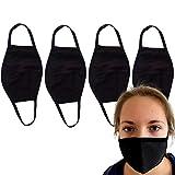 Descena 4 Kindermasken schwarz: Behelfs-Mundschutz Kinder waschbar I Baumwollmaske Kinder schwarz.: Behelfs-Mundschutz Maske schwarz I Wiederverwendbare Masken schwarz für Jungen und Mädchen