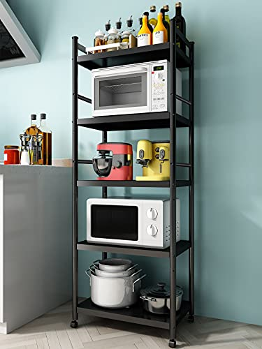 Denkee 5-Tier Kitchen Baker's Rack, Heavy Duty Free Standing Baker's Rack for Kitchens Storage with...