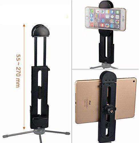 Racksoy 'rack Soy Tablet titolare due della testa clip supporto per Tablet con due 1/4filettatura per variante chiusura rapida su treppiedi, supporto, per iPad Pro, iPhone 6S Plus ecc.