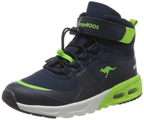 KangaROOS Jungen KX-Hydro Sneaker, Dk Navy/Lime, 34 EU