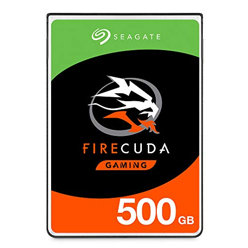 Seagate FireCuda 500GB Solid State Hybrid Drive Performance SSHD – 2.5 Inch SATA 6Gb/s Flash Accelerated for Gaming PC Laptop (ST500LX025)