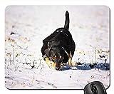 Yanteng Gaming Mouse Pads, Alfombrilla de ratón, Doggy Winter Animal Pet Puppy Snout Shape Sight