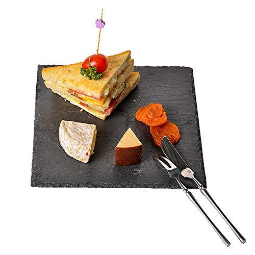 Pizarra queso, bandeja piedra sólida, tabla servir