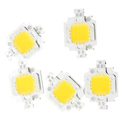 SODIAL(R) 5 LED IC LAMPADINA BIANCO CALDO 10 WATT 3200K 800LM 9-12V