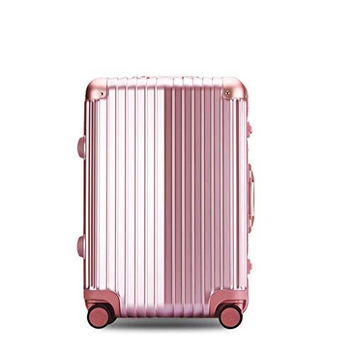 JIA JU JIA JU Erweiterbar Koffer Gepäck Rollen Reisetasche Kleidungsstück Einkaufstasche Für Männer Frauen Leichte Handgepäck Große Kapazität Gepäck -PINK (größe : 24-Inch)