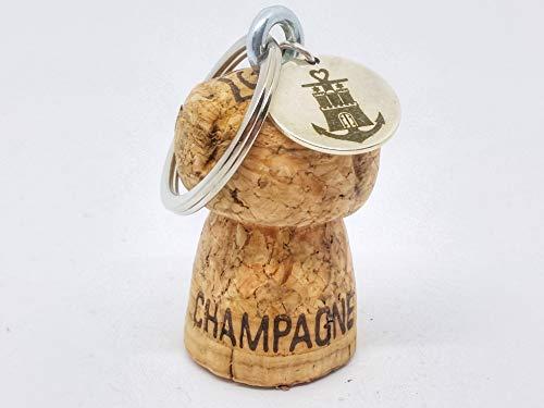 ALSTERschmuck Upcycling - Schwimmender Schlüsselanhänger aus einem Champagnerkorken - Glaube Liebe Hoffnung Hamburg