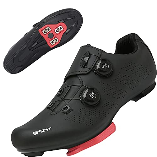 TFNYCT Cycling Shoes Mens Road Bike MTB Bicycle Shoes with Cleats Luminous Mountain Indoor Road Bike...