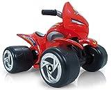 INJUSA - Quad Alien 6V Rote Farbe Empfohlen für Kinder ab 12M mit Permanenter und Wasserdichter Beschriftung und Fußbeschleuniger