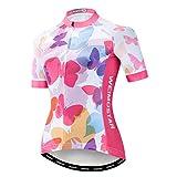 weimostar Camiseta de ciclismo para mujer MTB manga corta de secado rápido transpirable Bicicletas Tops deportes al aire libre senderismo ciclismo sudadera