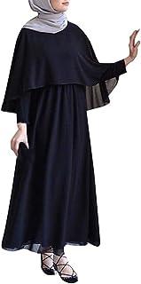 Abbigliamento Islamico Lunghezza Musulmana Epoca Vestiti Abiti E I Taglie Comode di Colore Solido Abiti di Preghiera Abaya...