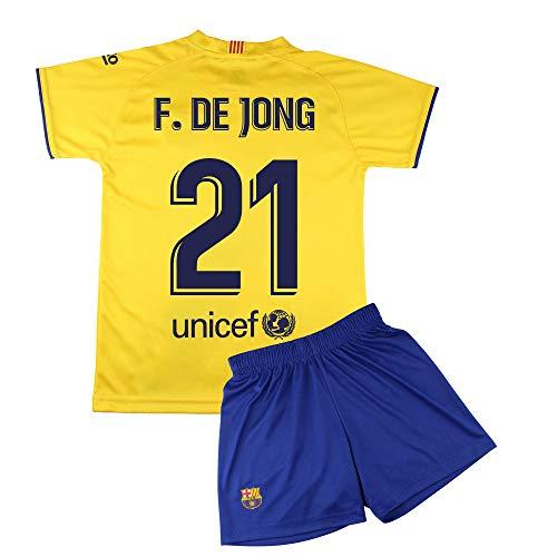 Champion's City Set Trikot und Hose für Kinder zur Erstausstattung – FC Barcelona – Replika – Spieler 6 Jahre 21 - F. de Jong