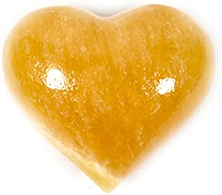 Warm Orange Crystal Stone Heart, 1.5