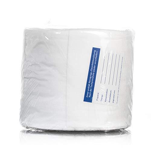 Wipes Vliesrolle, 100 Blatt, 30x20cm, Vliestücher, für Spender, zur Reinigung und Desinfektion, Nachfüllrolle zum Tränken, trocken, weich und saugfähig