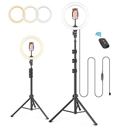 【2020業界進化版 12in】LEDリングライト 12インチリングライト 卓上ライト USBライト 撮影照明用ライト 光...