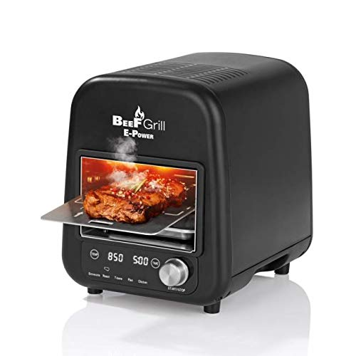Molino - hohe Heizleistung mit 1800W ELEKTRO-Power - bis 850°C - Beef Grill Oberhitzegrill - Beef Maker Elektrogrill - in/outdoor - fur perfekte Steaks