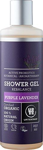 Urtekram Purple Lavender Gel de Ducha BIO, Probióticos Activos, 250ml