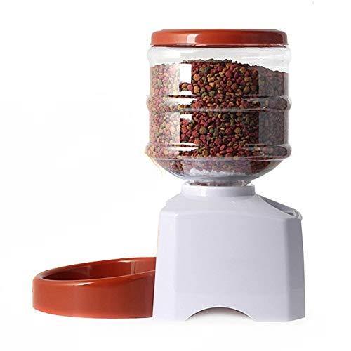 Moobom ペット自動給餌器 食器 オートペットフィーダー 自動えさやり 大容量5.5L 音声録音機能 タイマー付...
