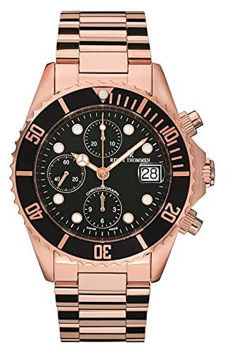 Revue Thommen Diver 17571.6167 - Reloj de pulsera para hombre (42 mm, cronógrafo, correa de acero inoxidable)