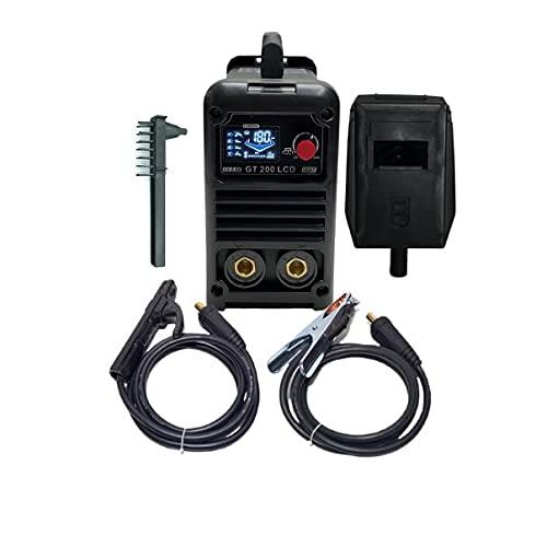 Soldador Inverter HERPRO GT 200 LCD, LIFT TIG, Hot Start, Anti Stick, Arc Force, EMC, VRD, Válido para Generador